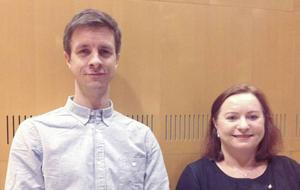 Johan Ryding, vd från Sportamore AB och Agneta Jönsson börsredaktör på tidningen Aktiespararna berättade om sina verksamheter.