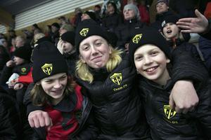 Philip Bergstrand, Axel Eriksson och Carl Sörebo från hemmalaget Skogsbo SK var nöjda med turneringen.