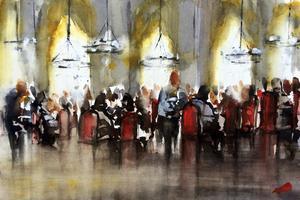 12 konstnärer på Fållnäs. Helena Trovajs akvareller och verk av 11 andra konstnärer visas på Fållnäs konsthall i sommar.
