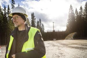 Göran Bylund från Ownpower är projektansvarig för Svartvallsberget