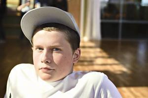 Simon Skjefstad från Bollnäs är en av de 25 eleverna som på måndagen började på Gävles nyaste gymnasieskola, MoveIT.