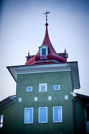 Det gröna tornet hittar man vid Bjuråkersvägen. Undra hur utsikten är från tornet?
