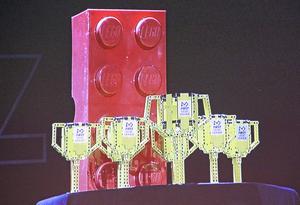 Championpokalen, byggd av lego, vanns av Tuppkärrskolan i Surahammar