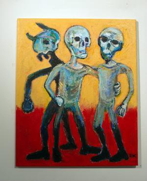 Målning av Ulf Ek.