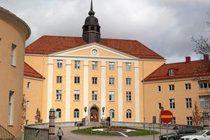 Landstingets leds från Landstingshuset i Västerås.