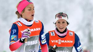 Therese Johaug  får sällskap av Marit Björgen på träningarna numera.