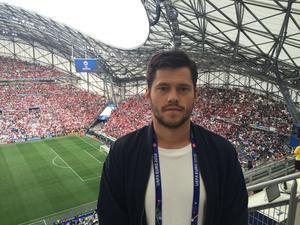Sportens Oskar Lund var på plats i Marseille under Island-Ungern.