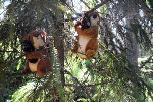 Runt om i skogen finns sagofigurerna.