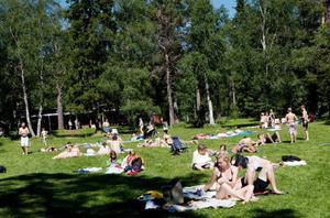 Provtagning görs regelbundet vid en rad badsjöar i Östersunds kommun. Bilden från Önsjöns badplats, en av de platser som ej finns med på kommunens lista av provtagningsplatser.