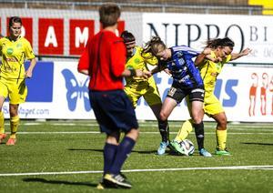 Emma Danielsson hade inte en av sina bättre dagar och hamnade till stor del utanför spelet.