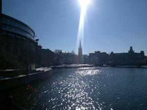 Passade på att ta en vårbild i stockholm och när jag sen tittade på fotot så upptäckte jag detta