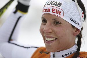 Charlotte Kalla tog sitt 20:e SM-guld i Piteå.