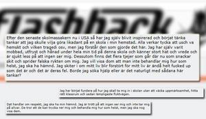 Så här skrev mannen på diskussionsforumet Flashback.Källa: www.flashback.se
