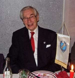 95-åriga Erik Ström uppvaktades vid julfesten.