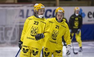 Johan Löfstedt och Tobias Nyberg i Vetlanda BK.