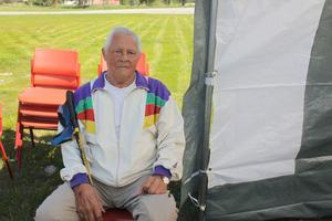 Sven Pahlin, 95 år, arbetade vid Mariebergs sågverk.