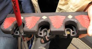 En egen konstruktion av makarna Palmqvist. Ett ställ för gåstavar, käppar eller paraplyer.