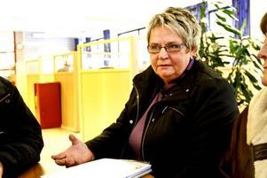 """Stöd finns. """"De långtidssjukskrivna får ju stöd och hjälp att gå vidare"""", säger riksdagsledamoten Margareta B Kjellin (M) som hävdar att debatten om de nya sjukreglerna skrämmer många.Foto: Håkan Selén"""