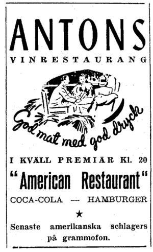 Annons i Norrlands-Posten 18 januari 1951