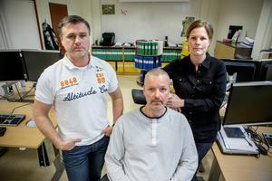 Spaningsledning i Sundsvall för Brattåsmorden. Från vänster: Jan Eriksson, Jonas Paulsson, Josefine Perming-Tengqvist.