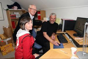Lena Bäckelin, Gottfrid Jonsson och Göran Pålson fick vänta länge innan valresultaten tickade fram.