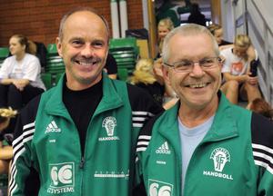 Tränarna Ove Hedlund och Håkan Olsson.