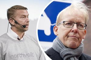 Peter Carlsson, vd Northvolt, och Johan Söderström, vd för ABB.