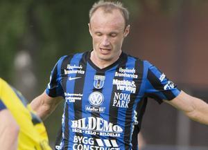 Dragan Kapcevic gjorde sitt 13:e mål för säsongen när serieledande Sirius hemmaslog Varberg med 2–0. Arkivbild.