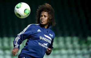 Kátia fick en kort men olycklig debut i SDFF-tröjan.