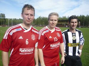 Målskyttarna på Rengsjö IP: Tommy Persson, Peter Edlund och George Bcheri.