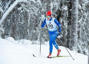 Stina Nilsson var sjua i mål och därmed näst bästa svenska. Foto: Ulf Palm/TT