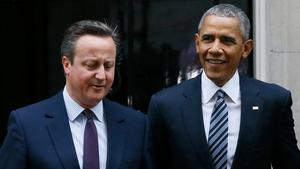 Storbritanniens premiärminister David Cameron och USA:s president Barack Obama.
