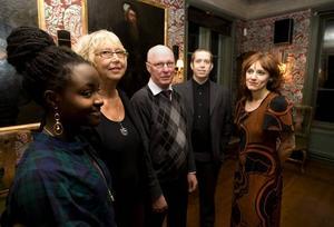 Stipendiater. Martha Nabwire, Ann-Mari Aldén, Bengt Eriksson Rolfcarlwerner och Anna Jörgensdotter firades i Högbo.