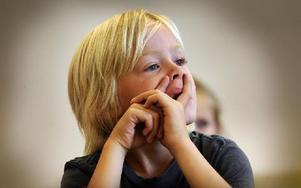 Det var roligt att börja skolan tyckte Axel Wolgast. Foto: Staffan Björklund