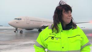 Måndagen blev en historisk dag för flygplatschefen på Åre Östersund Airport Susanne Norman.
