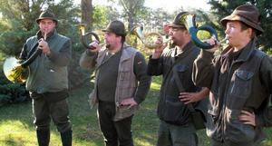 Hornblåsare är ett naturligt inslag när det jagas i Ungern.