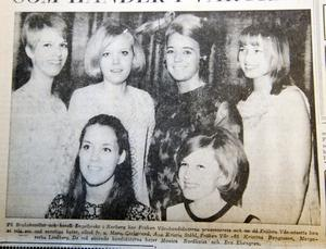 Kandidaterna till fröken Vår var Mona Carlstrand, Ann Kristin Ståhl, Kristina Bengtsson, Margaretha Lindberg, Monica Nordqvist och Eva Ekengren.