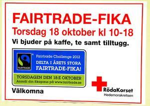 Torsdagens Fairtrade-fika på Röda Korset lockade 150 personer.