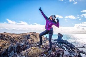 Äventyraren Melissa på Island.