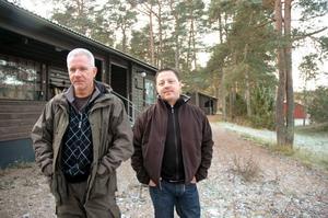 UPPSAGDA. Tobbe Lindkvist, ungdomsansvarig, och Stefan Hising, ordförande, vet inte hur de ska driva verksamheten vidare utan lokal.