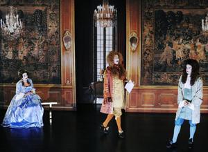 Maria Selbing som Eliante, Carl Jacobson som Orante och Per Burell som Alcéste.