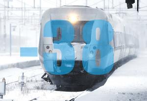 Tåget blev stående i flera timmar i 38 minusgrader. En resenär uppskattar temperaturen inne i tåget till minus 25.