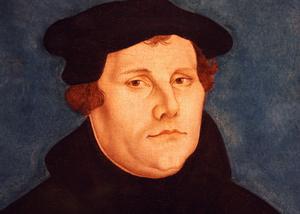 Porträtt av Martin Luther från 1529. Den tyske reformatorn imponerade inte på Västerås biskop Peder Månsson.