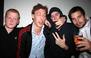 Konrad. Erik, Alexander Södergård, Johan och Kalle Klasson