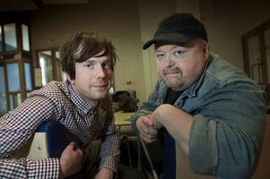 Kalle Moraeus och Timo Räisänen är värdar för årets Grammisgala. Foto: Carl-Johan Söder/Scanpix