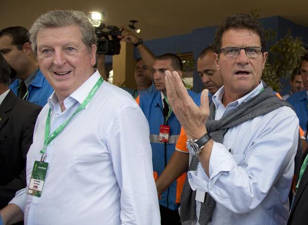 Englands förre förbundskapten Roy Hodgson och Rysslands förre förbundskapten Fabio Capello.