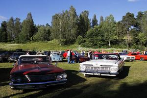 Besökare och deltagare gick runt och varvade den medhavda fikat med beundran av bilarna.