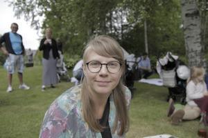 Sanna Lindström, 28, Uppsala, lärare: Sällan. Jag använder nästan bara kort.