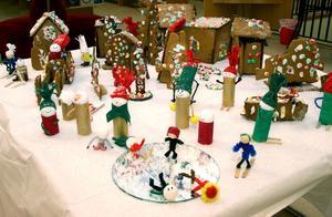 Notens by har alla attribut som barnen förknippar med vinter och jul.