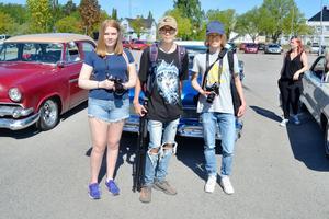 Tilia Andersson, Kim Andersson och Joel Tromark.